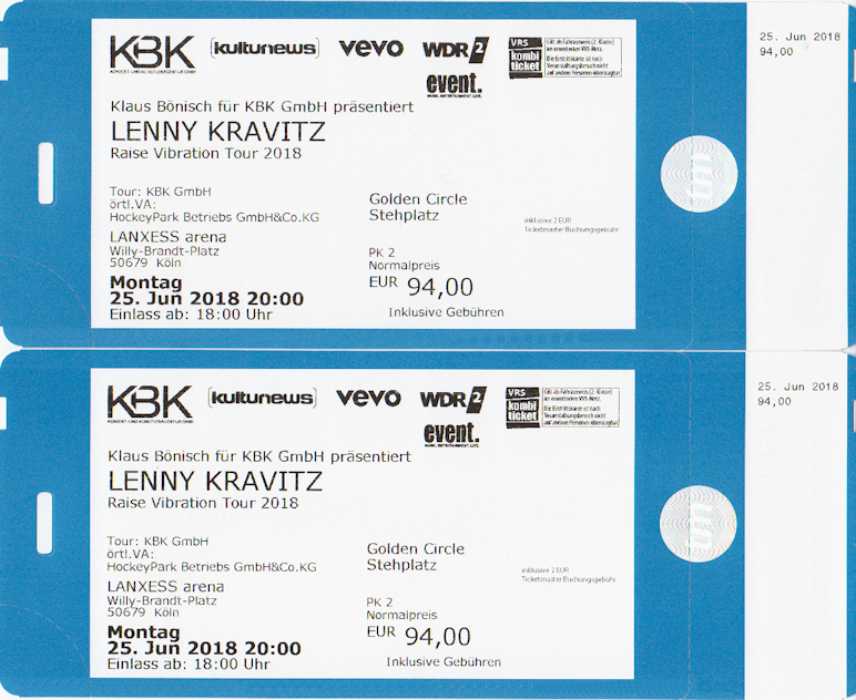 Kbk Köln lenny kravitz köln lanxess golden circle tickets karten 25 06 2018